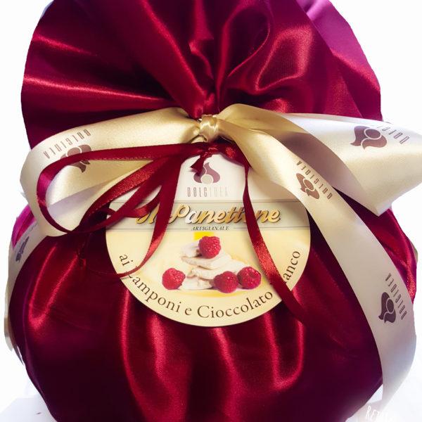 panettone cioccolato bianco e lamponi